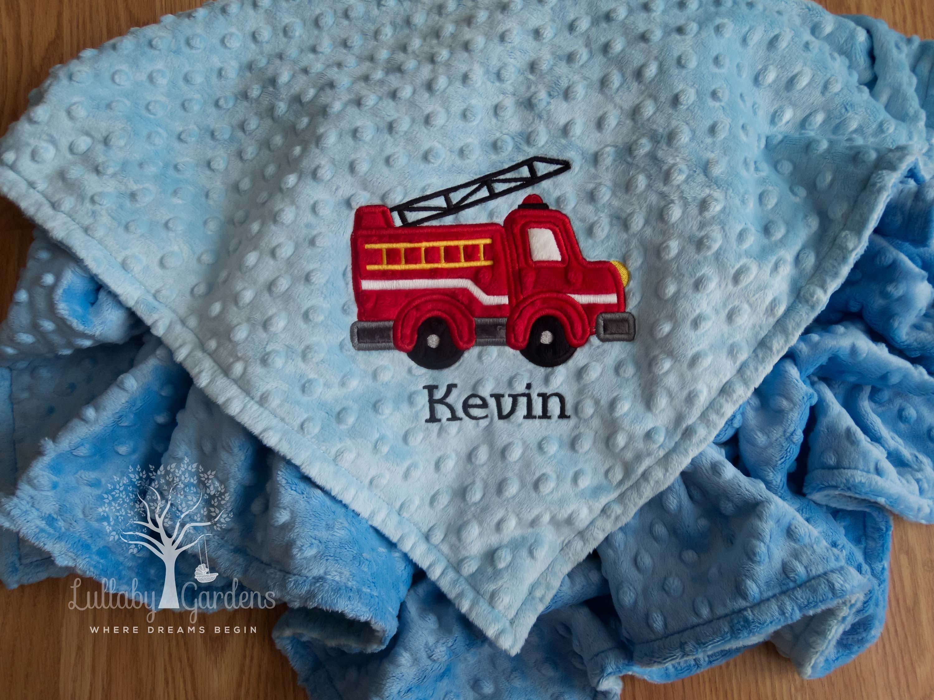 Fire truck personalized minky baby blanket boy baby blanket fire fire truck personalized minky baby blanket boy baby blanket fire engine baby blanket negle Images