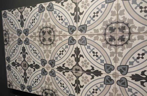 Bathroom Floor Tiles With This Patterned Porcelain Floor Tile From