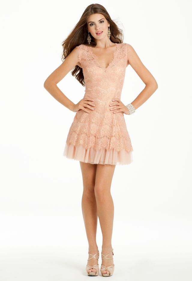 Lace Dress with Peek a Boo Tulle Skirt from Camille La Vie and Group ...