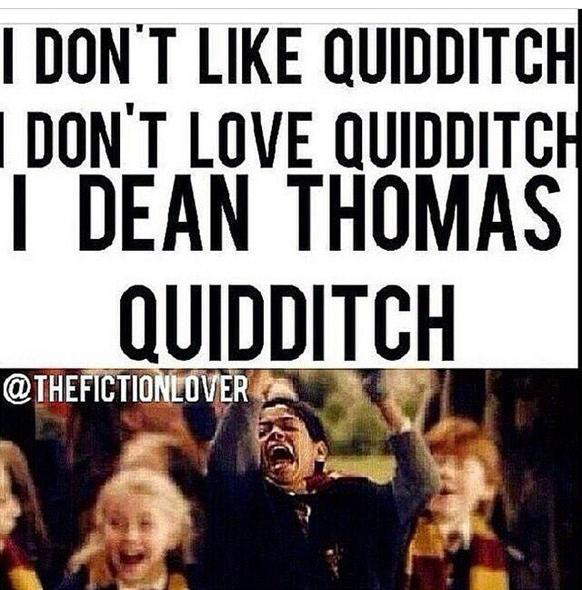 I Dean Thomas Quidditch Dean Thomas Harry Potter Love Quiddich