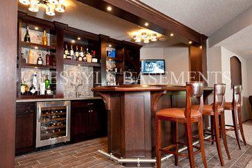 Irish Pub Style Bar. Design Ideas, Shows Brass Foot Rail And Arm Rail On