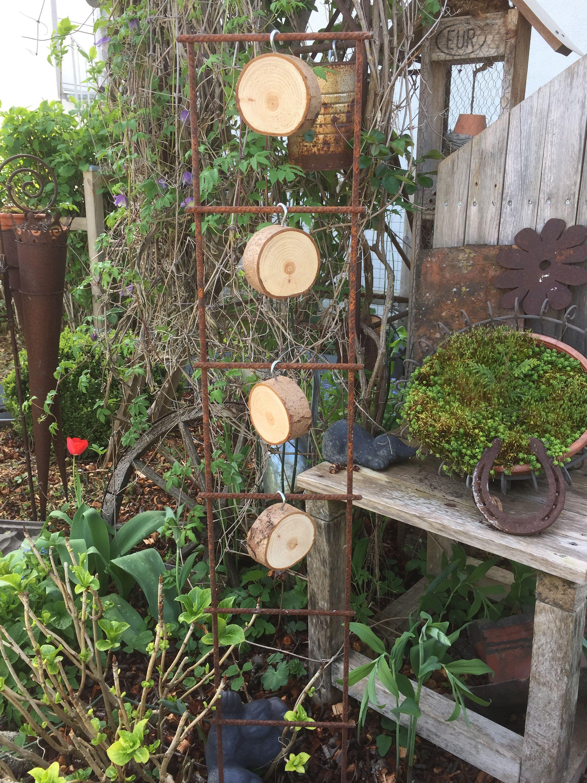 Garden Deco Decorative Tree Slices Garden Wind Game