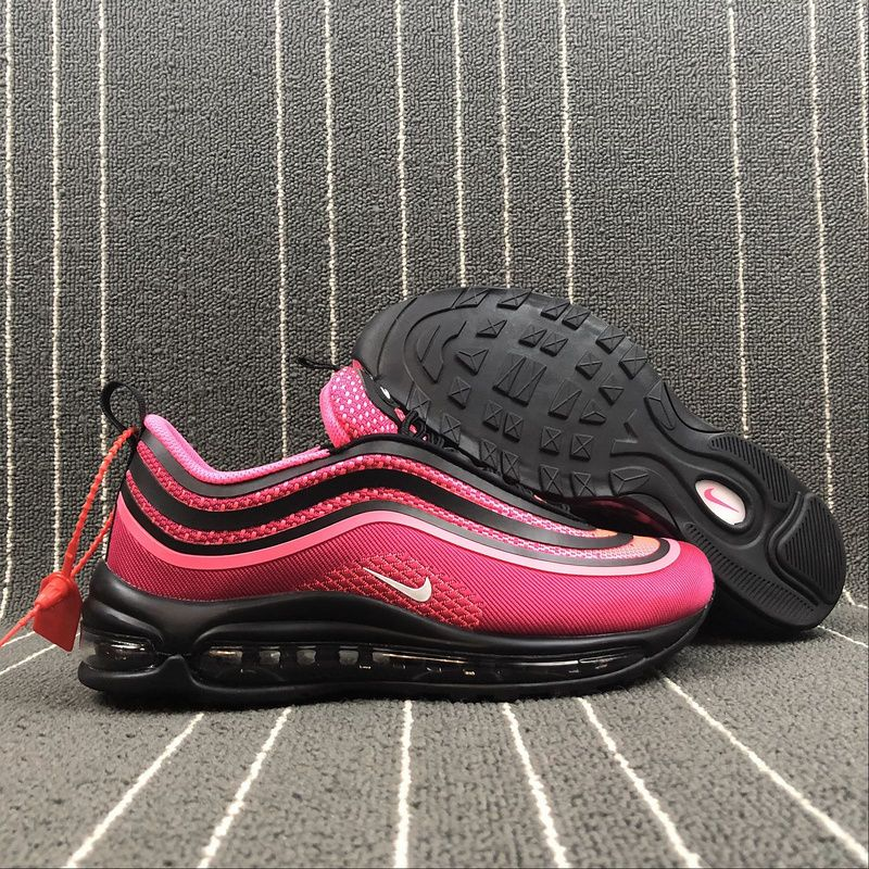 Best Quality Nike Air Max 97 black pink white women's running shoes sneakers  917999-001