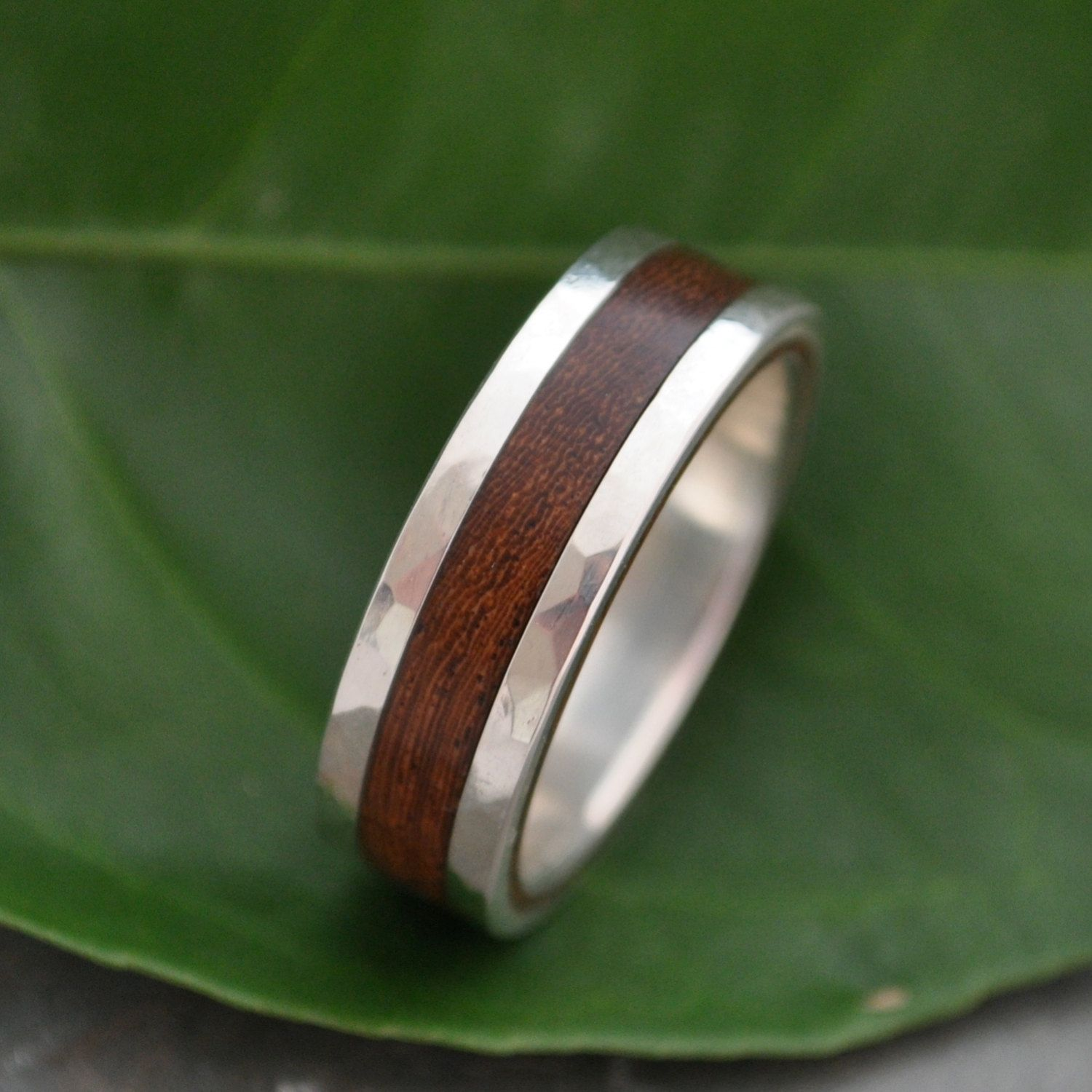 sterling wedding set sustainable rustic handmade details silver rings ori ring