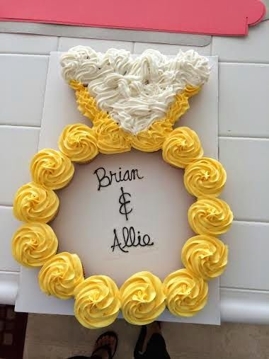 Engagement Ring Wedding Pull Apart Cupcake Cake