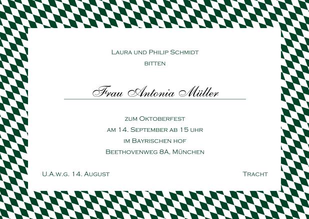 Oktoberfest U201cBayrische Lebenslustu201d Diese Wunderbare Einladungskarte Mit  Bayerischem Rahmen Können Sie Einfach Anpassen.