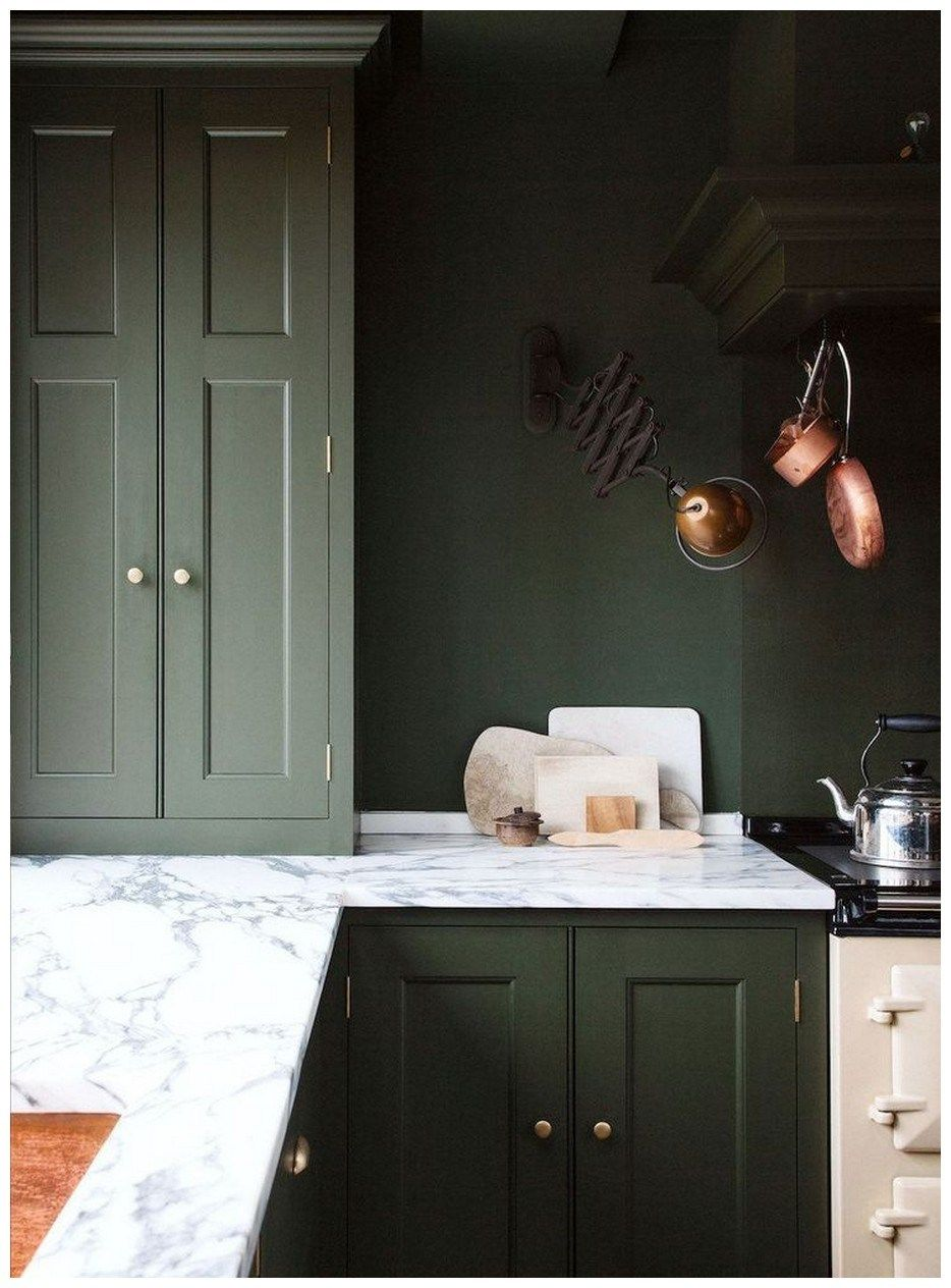 50 stunning dark kitchen ideas 55 in 2020 dark green kitchen kitchen wall colors green on farmhouse kitchen wall colors id=14983