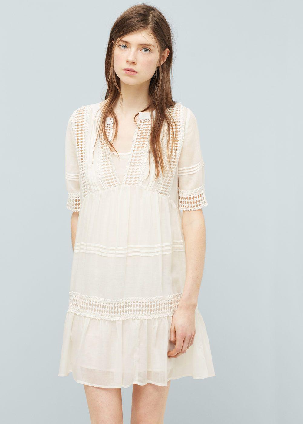 ee099ef115e Vestido bordado - Vestidos de Mujer
