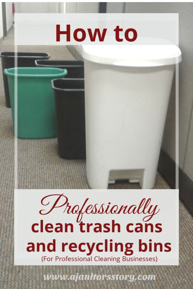 cleaning trash cans and recycling bins | how to clean