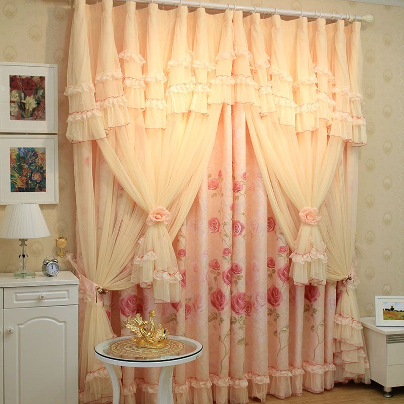 Luxury Roman Blinds The Tulle Korean String The Curtain Shalian Lace Curtain  Quality Bedroom Window Curtains