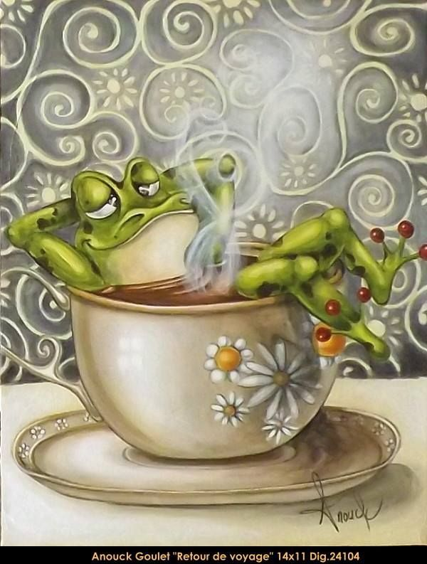 Картинки по запросу painting by Anouck Goulet | Лягушка ...