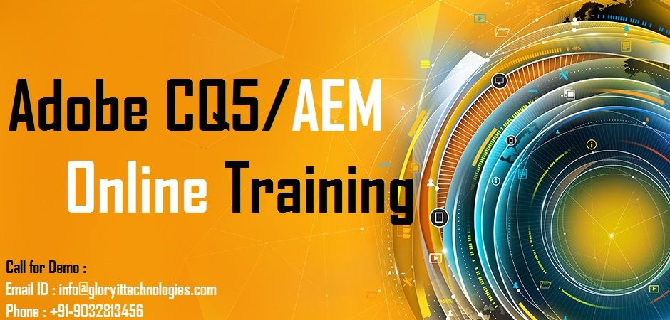 Glory It Technologies Is The Only Best Institute For Adobe Cq5 Online Training Our Adobe Experience Manager Training Educ Online Training Event Services Online