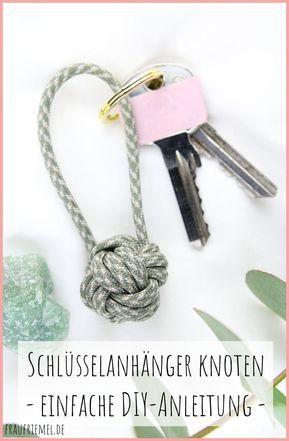 Photo of Schlüsselanhänger knoten aus Paracord | frau friemel