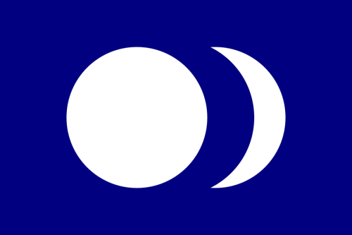 From the mid-1950s to the 1970s, a self-proclaimed Republic of Taiwan Provisional Government was active in Japan. Its president was Thomas Wen-I Liao, who was in exile there. This government used a flag of a blue field charged with a white sun and a white moon.