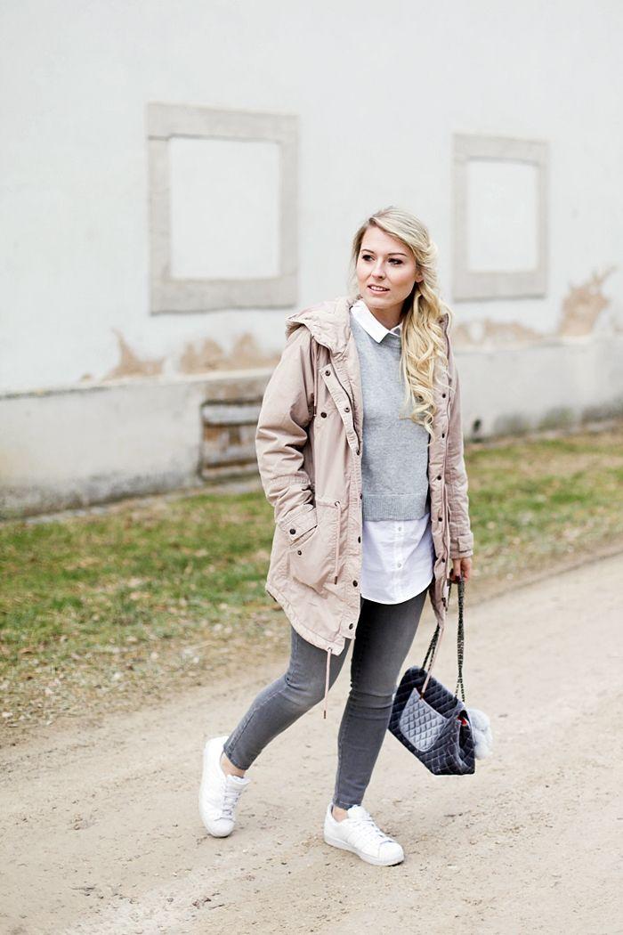 Spring Outfit Rosa, grau & weiß | Meine Outfits | Adidas