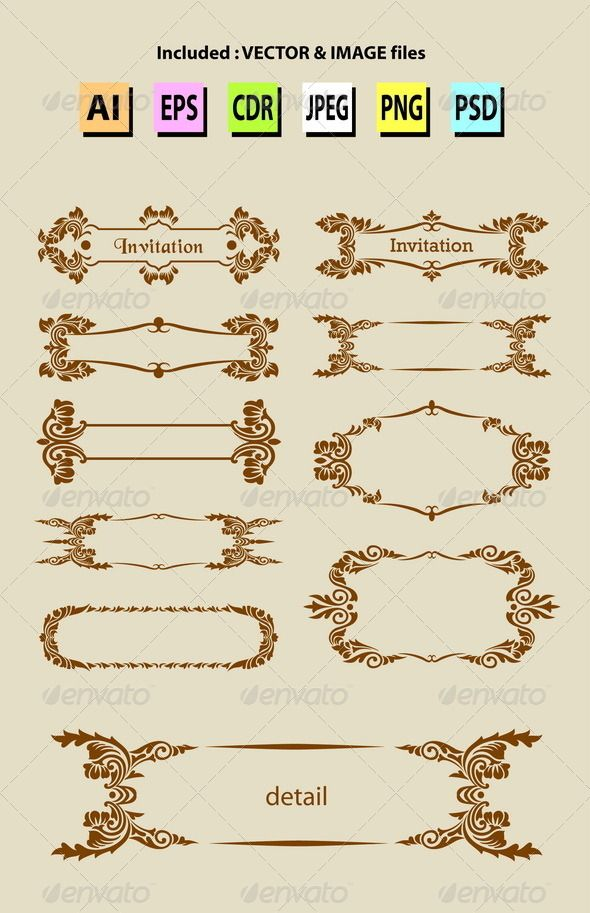 Nice clean and smooth vector blank label floral ornaments good nice clean and smooth vector blank label floral ornaments good use for title stopboris Choice Image