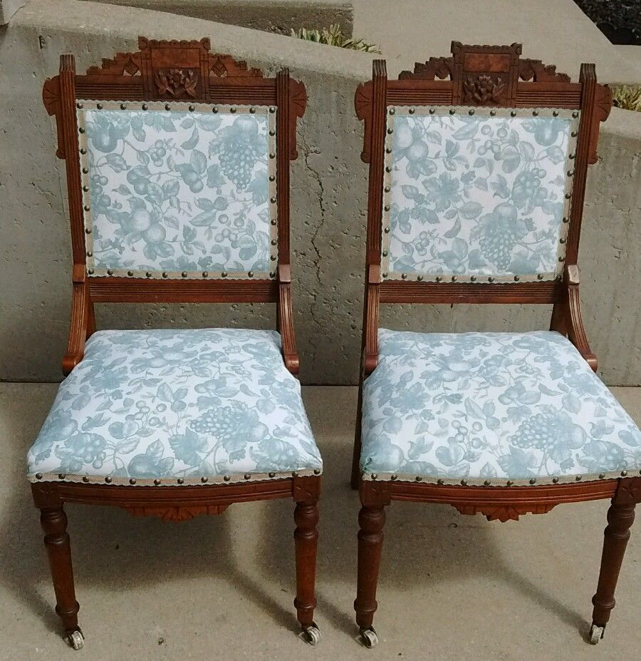 Eastlake Parlor Chair Set of 2 Chair Makeover, Furniture Makeover,  Furniture Ideas, Vintage - Eastlake Parlor Chair Set Of 2 In 2018 Eastlake Pinterest