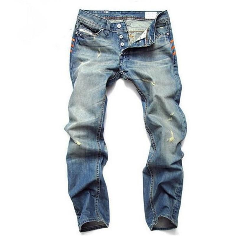 23ce69029eef 2019 New Fashion Hole Jeans Men Long Trousers skinny ripped distressed jeans  masculino Denim Pants Plus
