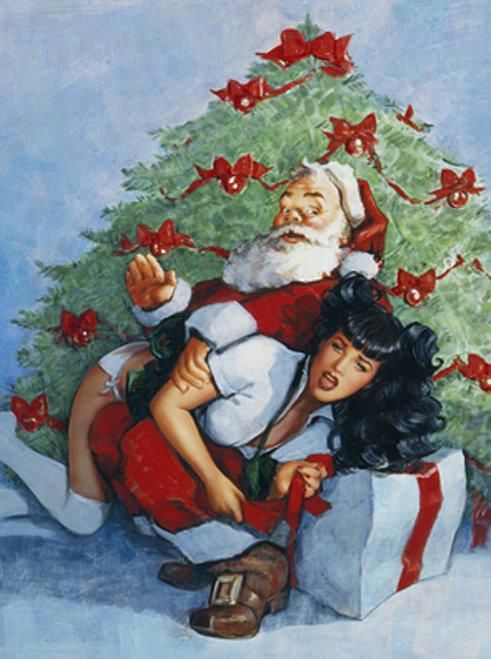 Christmas spanking