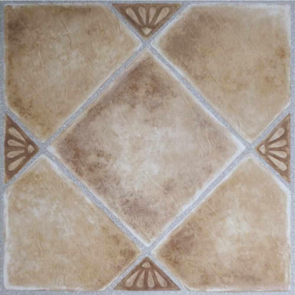 Achim Nexus Beige 12 In X 12 In Peel And Stick Diamond Pattern Vinyl Tile 20 Sq Ft Case Ftvgm33520 The Home Depot