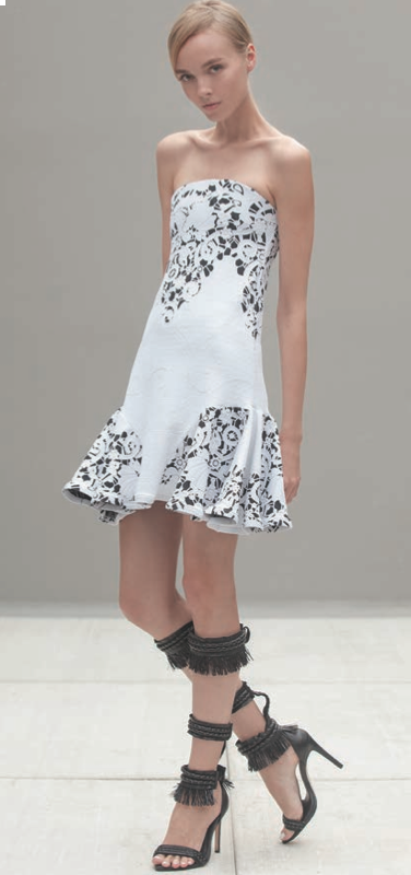 b48413c36ca1 Alexis- Pierre Dress. This Short Dress Features a Strapless Top with a  Ruffled Bottom. * Dry Clean Only * Made in USA * Model is Wearing Size  Extra Small