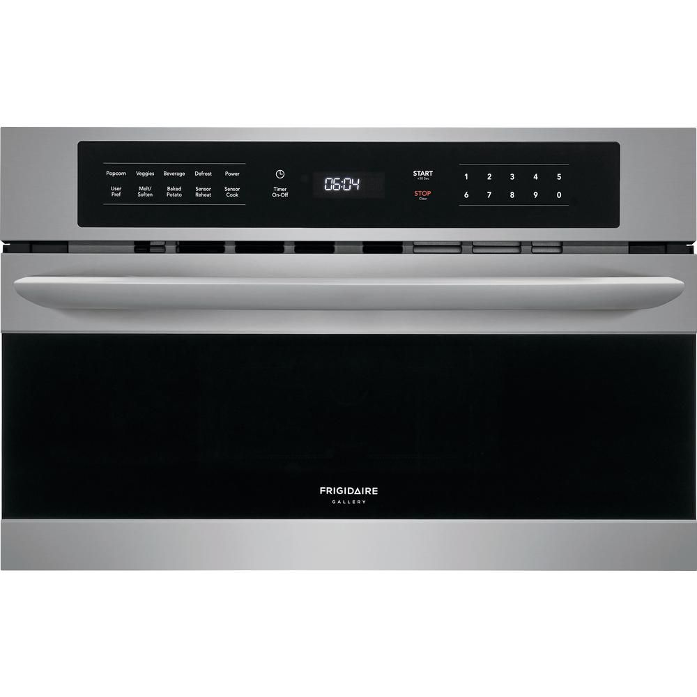 Frigidaire Gallery 1 6 Cu Ft Built In Microwave In Stainless Steel With Drop Down Door Fgmo3067uf The Home Depot Built In Microwave Frigidaire Gallery Stainless Steel Microwave