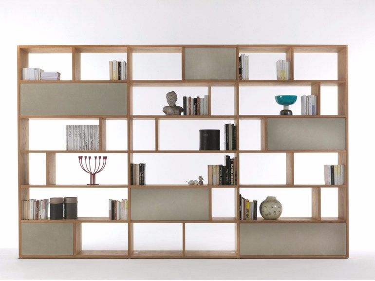 Libreria bifacciale con cassetti PASSWORD by Riva 1920 | bookcase ...