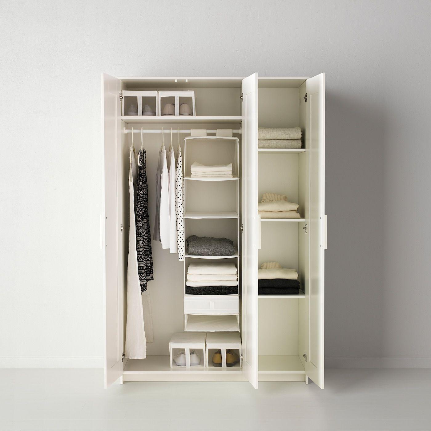Ikea Brimnes Kleiderschrank 2 Türig Weiß