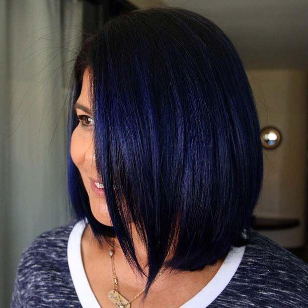 23 Gorgeous Blue Black Hair Coloration Ideas To Copy Asap