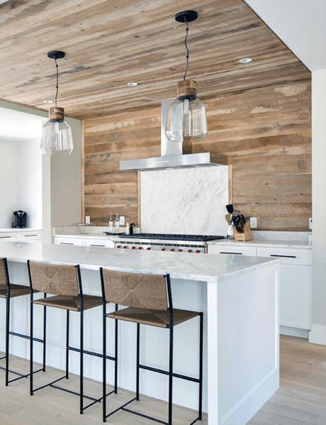 Top 60 Best Wood Backsplash Ideas Wooden Kitchen Wall Designs