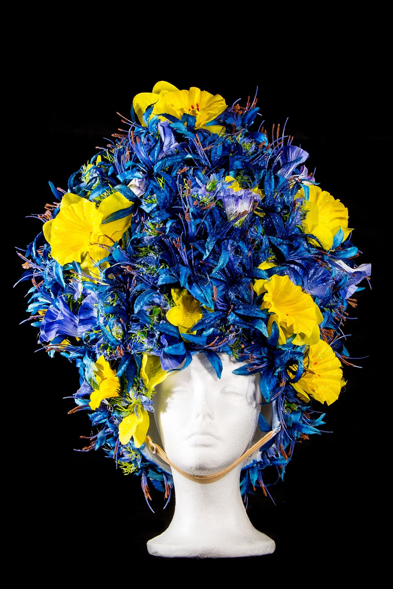 Foamwigs Blue And Yellow Flowers Foamwigs Wigs And