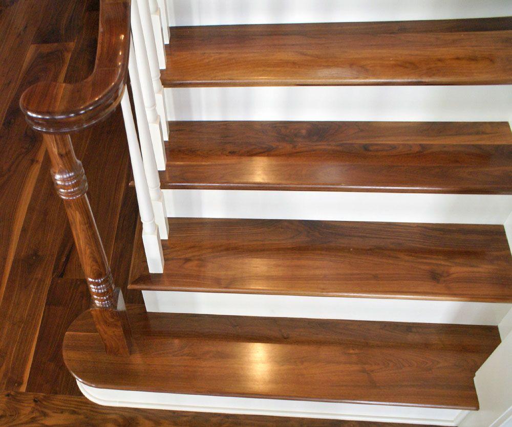 Rustic Walnut Stair Treads