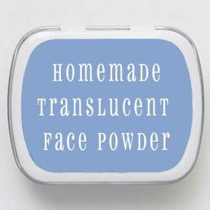 homemade translucent face powder