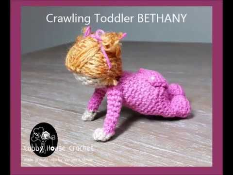Amigurumi Joining Legs : Crawling toddler joining legs cubby house crochet patterns