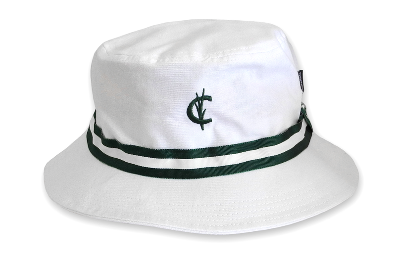 Bucket Hat White With Green Ribbon Green Ribbon Bucket Hat Hats