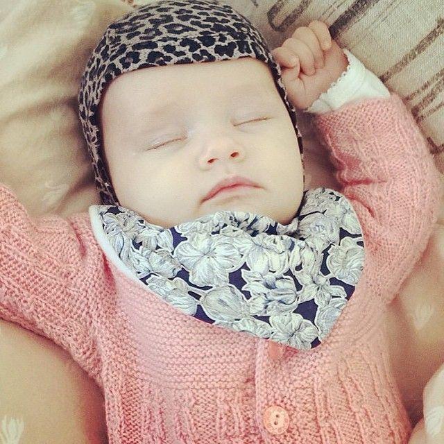 Sleeping and away :-) LittlePetit bib.