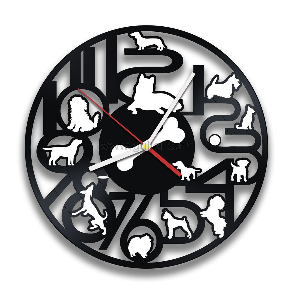 Https Www Gullei Com Bedroom Wall Decor Clock Gift For Dog Lovers Html