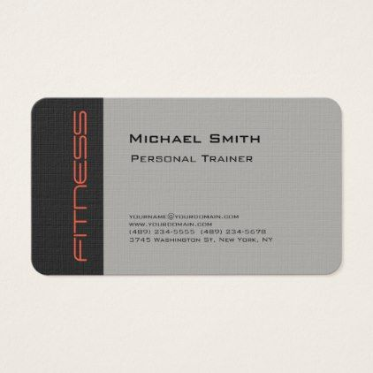 Classy luxury linen gray personal trainer sport plain business classy luxury linen gray personal trainer sport plain business card reheart Image collections