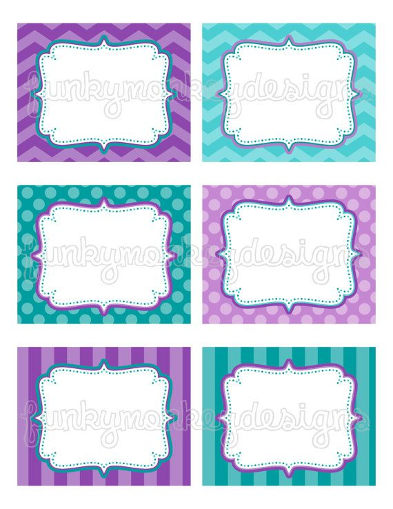 Free Printable Food Labels For Mermaid Party
