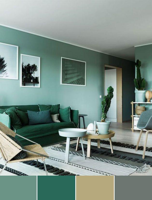 40 Combinaciones De Colores Para Pintar Un Salon Mil Ideas De Decoracion Colores De Interiores Decoracion De Interiores Decoracion Verde
