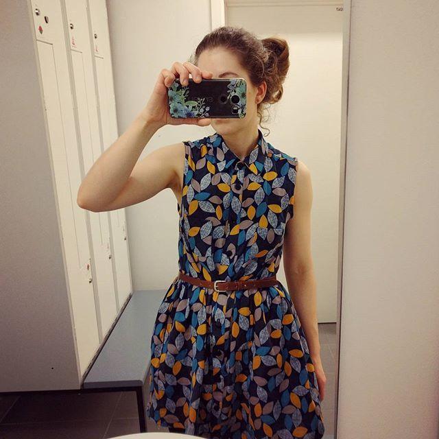 7dc1d65e5fd Et bilde av ferdig av min siste kjole, i deilig #doublegauze. Noen som vet  om man kan få tak i denne type stoff i Norge?