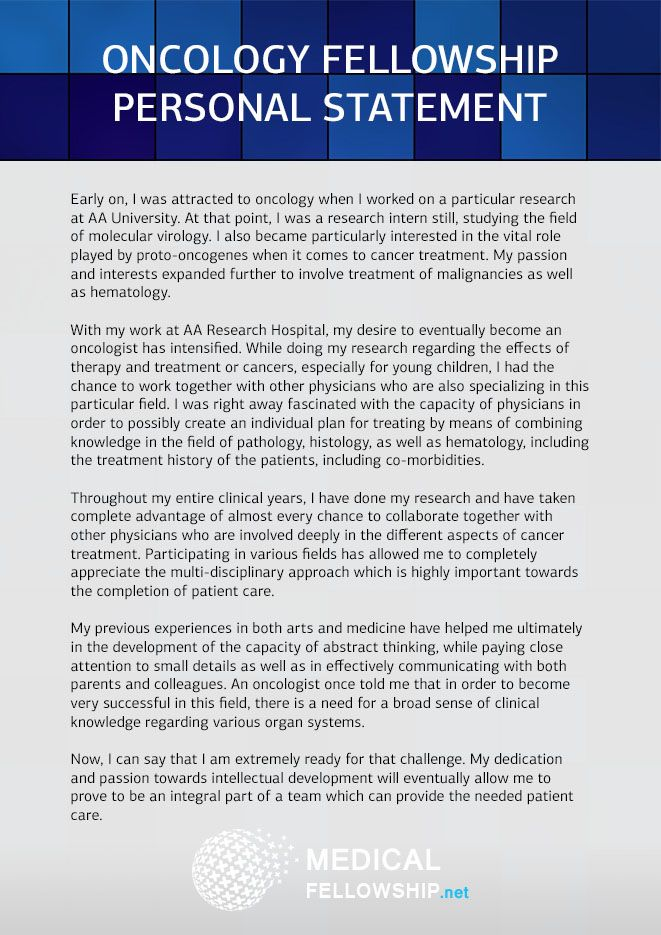Neurology Residency Personal Statement Sample Neurology Residency