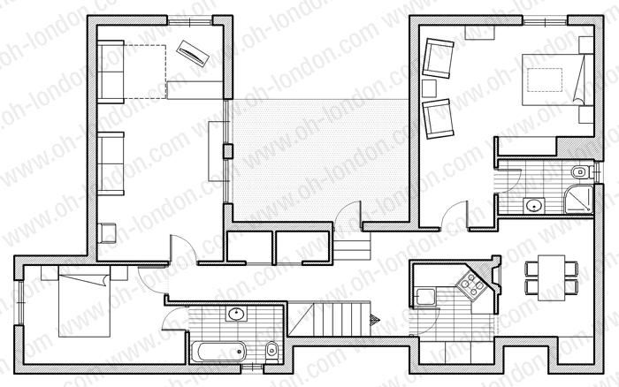 Lovely Paris Penthouse Floor Plans | Guests 150 M2 Square Metres 2 Bedrooms 2  Bathrooms 3 Nights