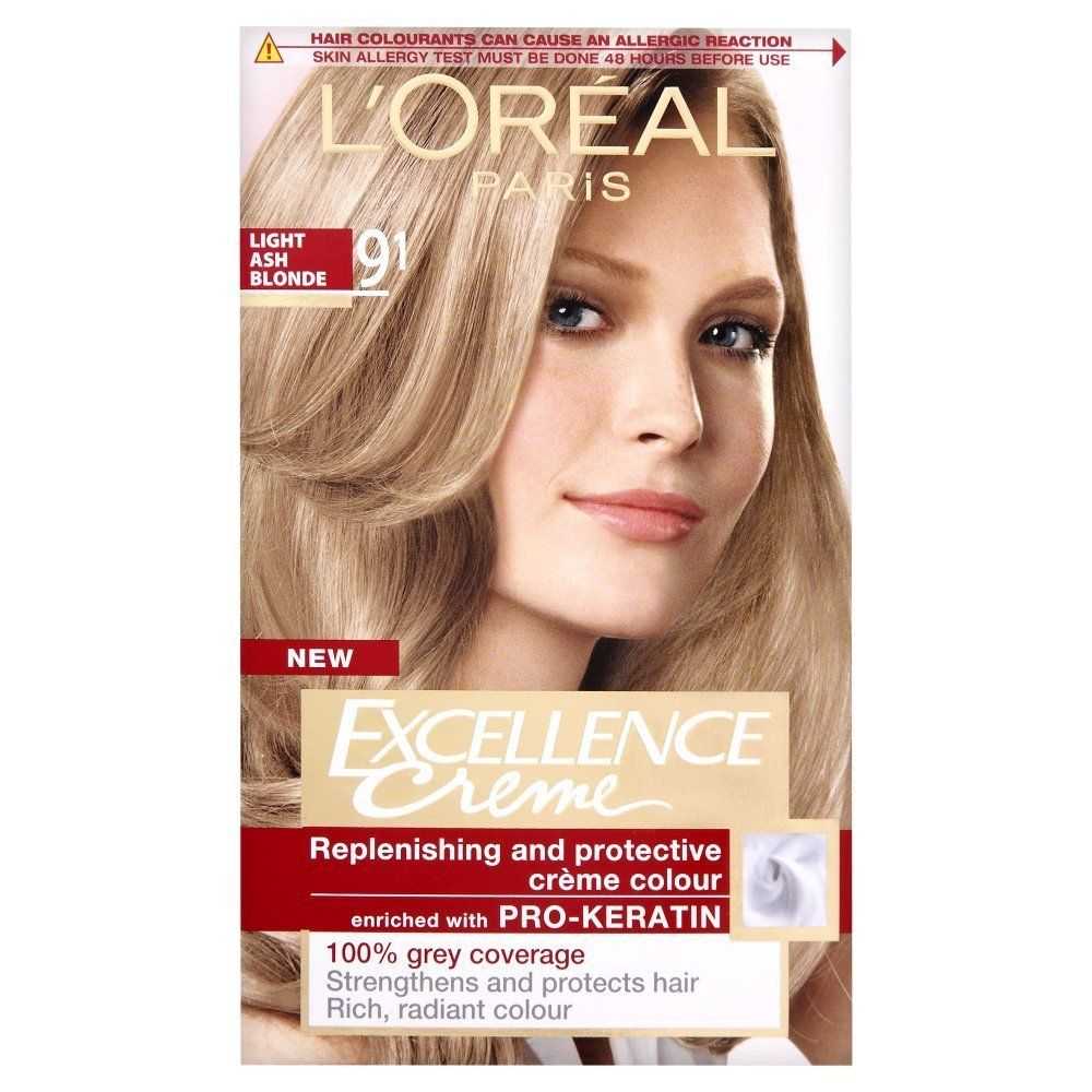L Oreal Excellence Permanent Hair Colour 9 1 Light Ash Blonde Want To Know More Click On The Im Natural Hair Color Dyed Blonde Hair Blonde Hair Dye Colors