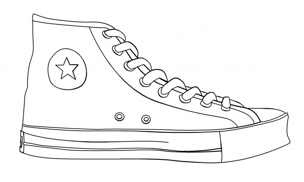 converse shoes template