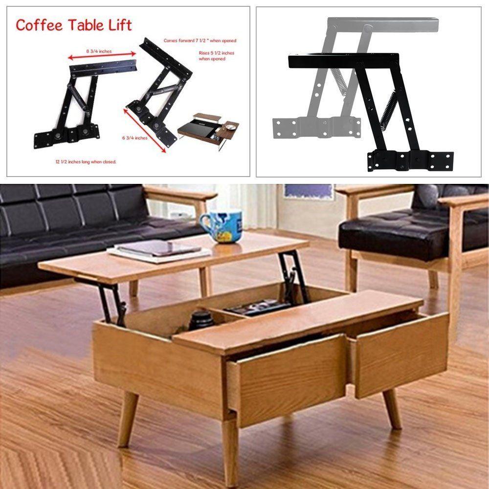 2pcs Lift Up Top Coffee Table Lifting Frame Fitting Furniture Mechanism  Spring Hinge Hardware: Amazon.co.uk: DIY U0026 Tools