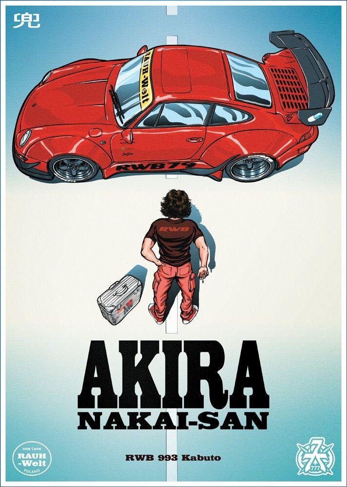 Image of AKIRA Poster Autos und motorräder, Rauh welt