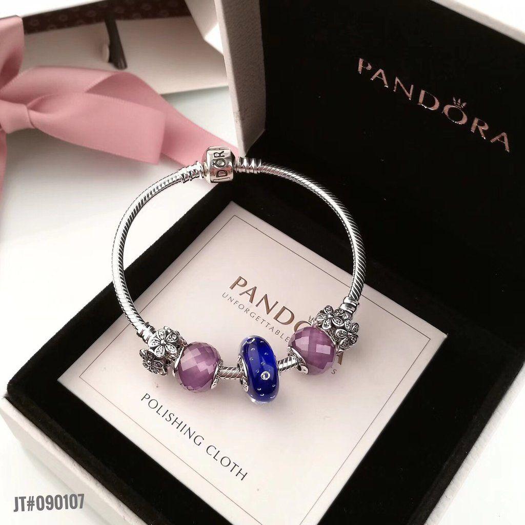 153 Pandora friendship flower charm bracelet 5pcs charms 00ed1b2355