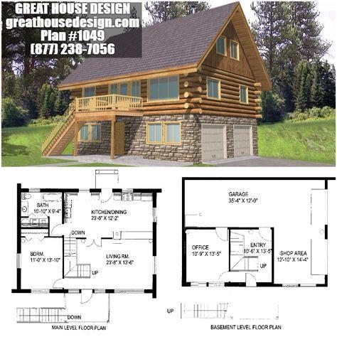 Unique Log Cabin Plans with Basement