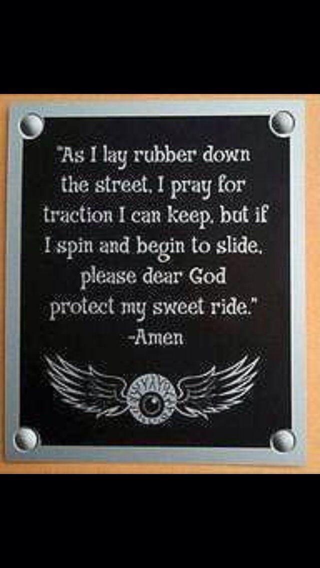 Harley Davidson Love Quotes Mesmerizing Driver's Prayer  Quotes I Love  Pinterest